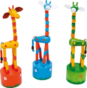 Small Foot girafes à pression 3 pièces 18 cm