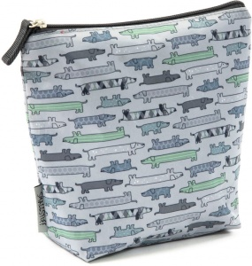 Smallstuff toiletry bag large dogs 24 x 22 cm light blue