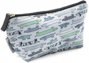 Smallstuff toiletry bag small dogs 24 x 11 cm light blue