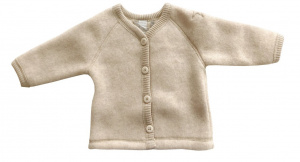 Smallstuff vest cardigan junior merino wol beige