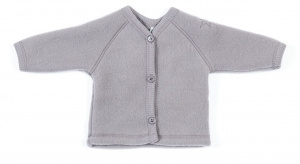 Smallstuff vest cardigan junior merino wol grijs