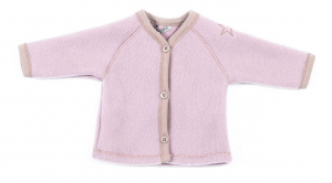 Smallstuff vest cardigan junior merino wol roze