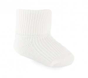 Soft Touch baby socks 0-3 months cream