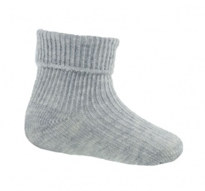 Soft Touch baby socks 0-3 months grey