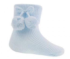 Soft Touch baby socks junior polycotton blue