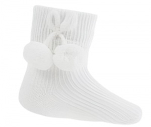 Soft Touch baby socks junior polycotton white