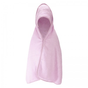 Soft Touch badcape Supersoft baby 75 cm roze
