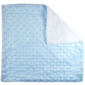 Soft Touch boxkleed Bubble 34 x 34 cm blauw