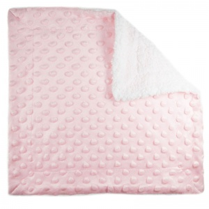 Soft Touch cuddly Bubbleblanket 34 x 34 cm pink