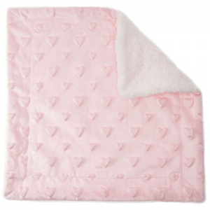 Soft Touch cuddly blanket hearts 34 x 34 cm pink
