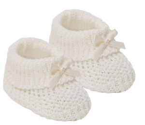 Soft Touch shoes Baby Bootees cotton cream 0-12 months