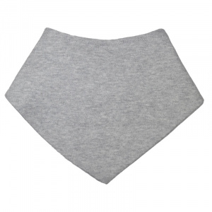 Soft Touch bib bandana 20 x 40 cm grey