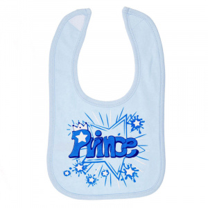 Soft Touch bib Prince boys 35 x 22 cm cotton blue