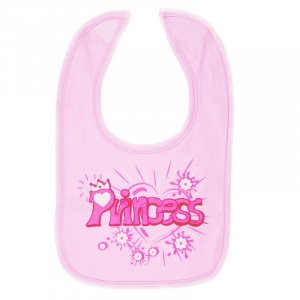 Soft Touch bib Princess girls 35 x 22 cm cotton pink