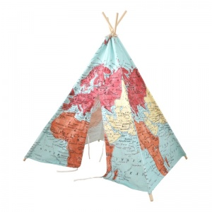 Sunny tipitent world map 160 cm multicolor