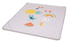 Taf Toys water-repellent play mat Outdoorjunior 140 cm grey/white