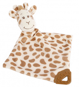 Take Me Home couverture câline Girafe 33 x 33 cm en peluche marron