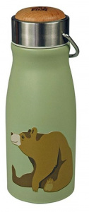 The Zoo gobelet Brown Bear300 ml acier inoxydable vert/argent