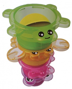 Toi-Toys bathing toys stacking tower pink turtle 4-piece