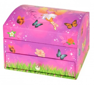 Toi-Toys music box Fairieswith drawer 14 cm girls pink