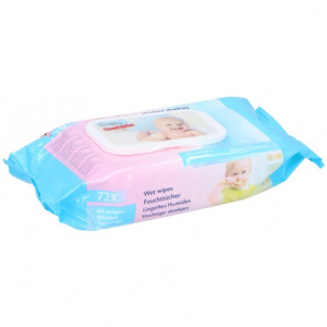 TOM baby wipes moist 72 pieces