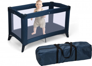 TOM Camp bed 120 x 60 x 76 cm blue