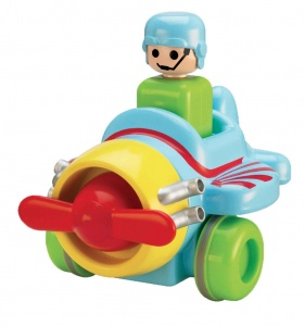 Tomy toy airplane Toomies - Push 'n Go Plane41 cm multicolor