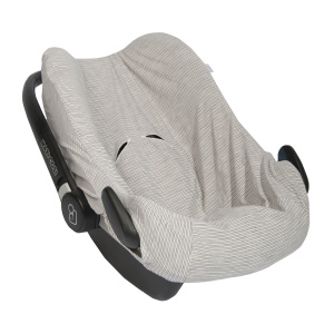 Trixie car seat cover Blue Ribbons cotton grey