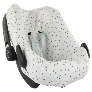 Trixie car seat cover junior cotton white/grey