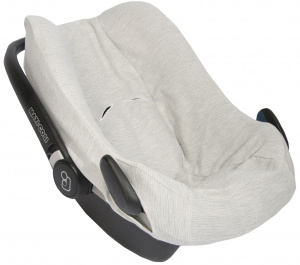Trixie car seat cover Maxi-Cosi Pebble junior cotton grey/white