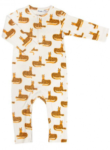 Trixie onesie Cheetah junior Baumwolle weiss/orange