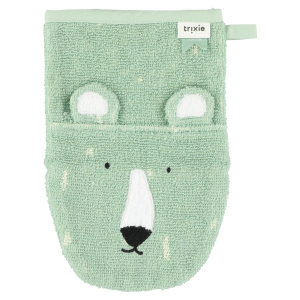 Trixie washcloth Mr. Polar Bearjunior 14 x 22 cm terry green