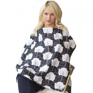 Udder Cover voedingsschort Lily 83 cm donkerblauw
