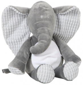 Vaco knuffel Billy olifant 40 cm polyester grijs