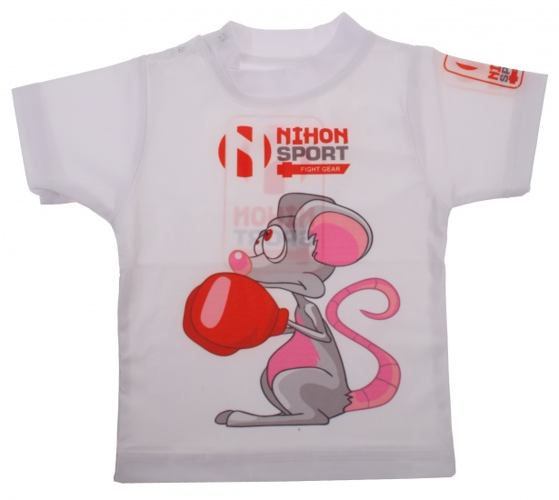 Nihon T-shirt Muis junior polyester wit 35 cm