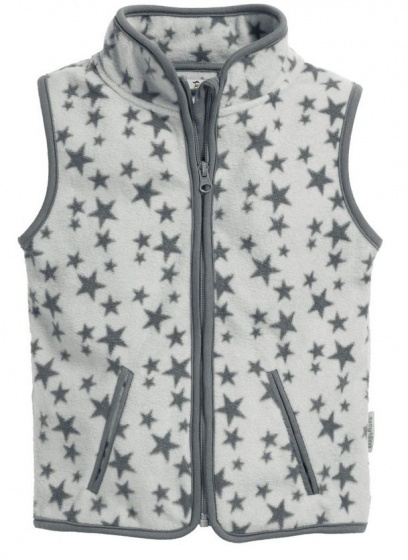 Playshoes bodywarmer Sterren fleece junior grijs