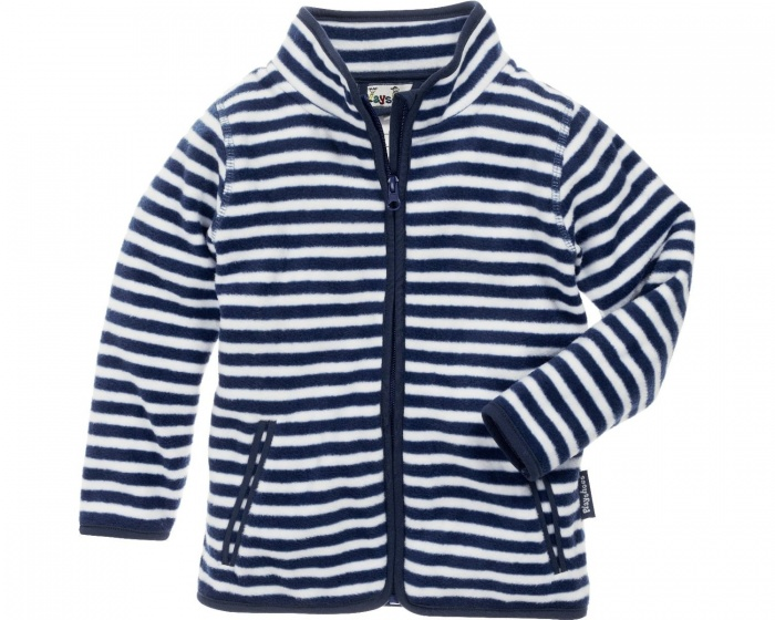 Playshoes fleecejack Maritiem junior navy/wit