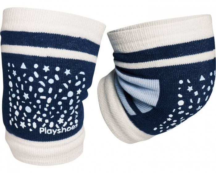 Playshoes kniebeschermers antislip junior wit/navy one size