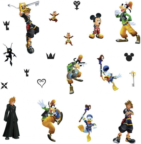 RoomMates muurstickers Kingdom Hearts vinyl 20 stuks