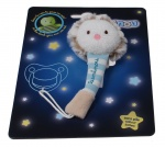 Luminou Glow In The Dark fopspeenketting egel blauw 21 cm
