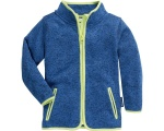 Playshoes fleecejack Knit fleece junior blauw