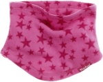 Playshoes nekwarmer fleece roze met sterren junior one size