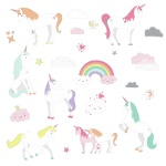 RoomMates muurstickers Unicorn Magic vinyl 23 stuks